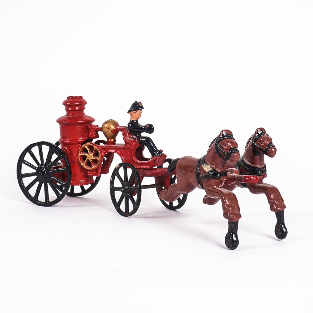 Reproduction Cast Metal Fire Fighter Toy