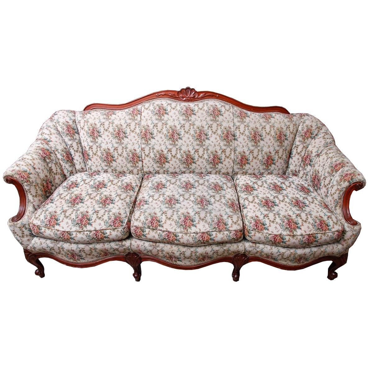 Vintage Queen Anne Style Sofa