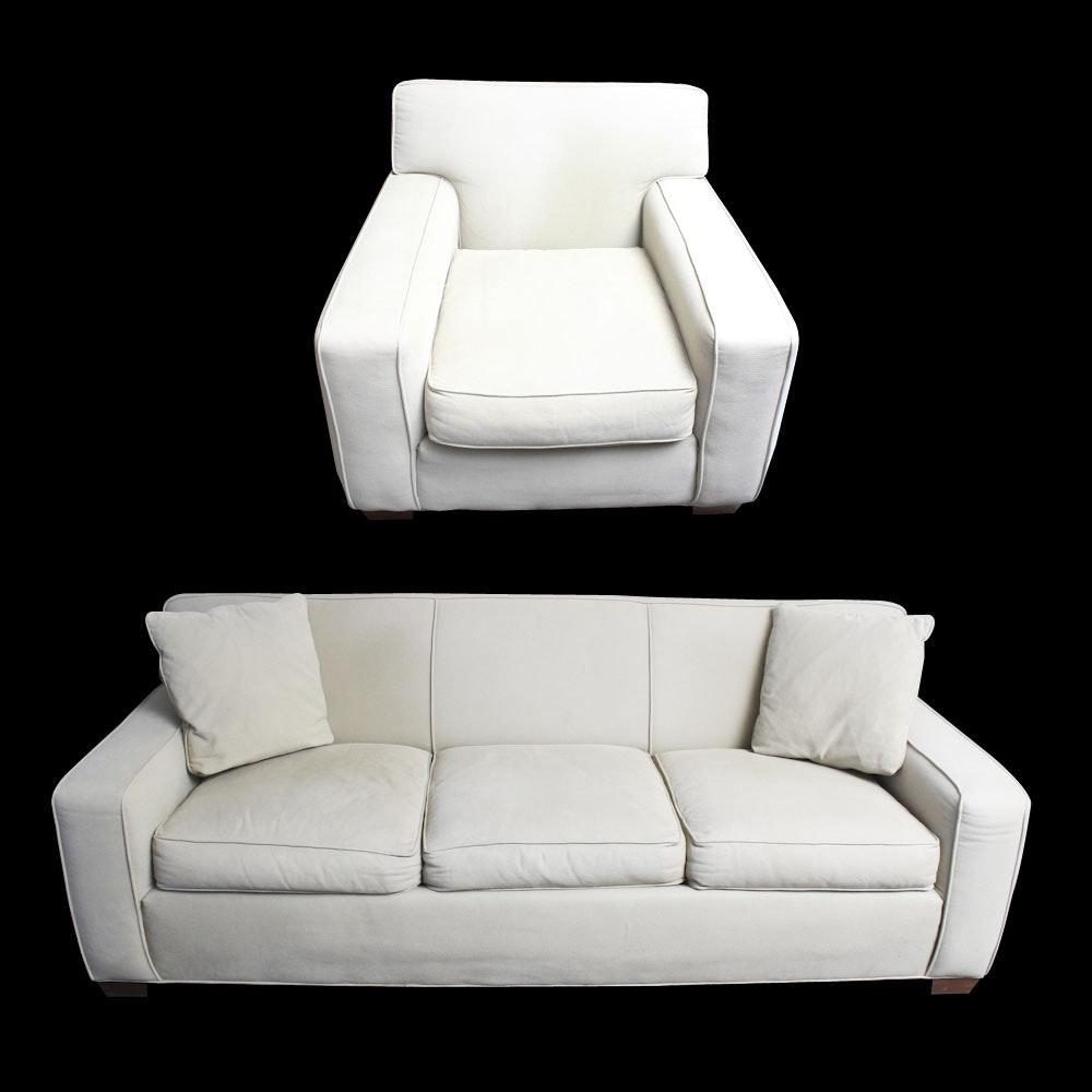 Crate U0026 Barrel Sleeper Sofa And Armchair ...