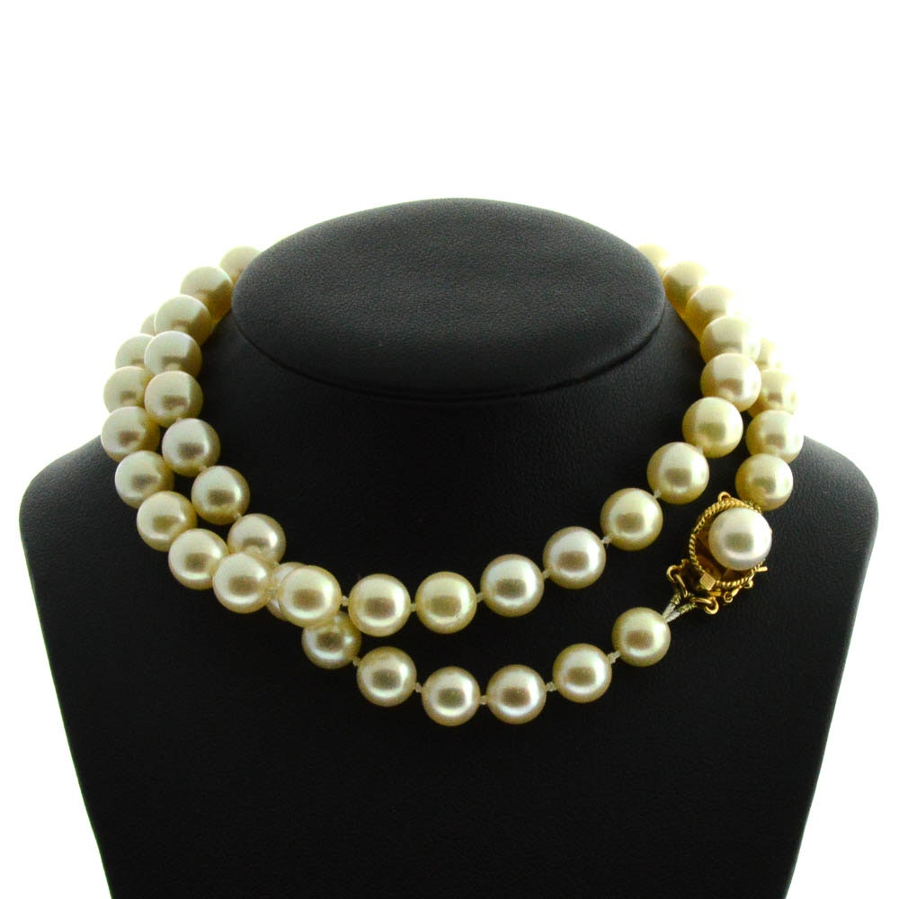 "Vintage 19"" Pearl Strand with 14K"
