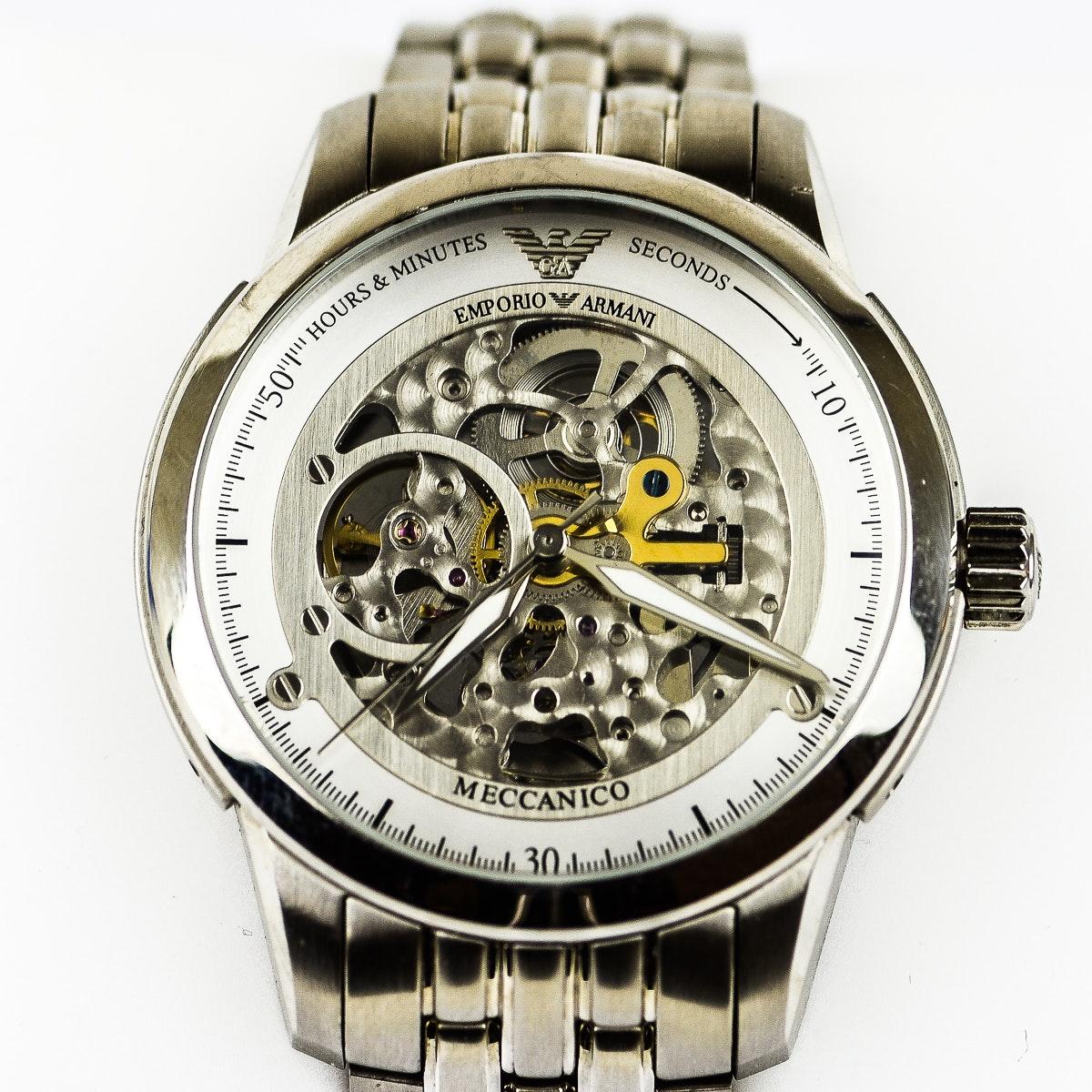 Men's Emporio Armani Skeleton Wristwatch