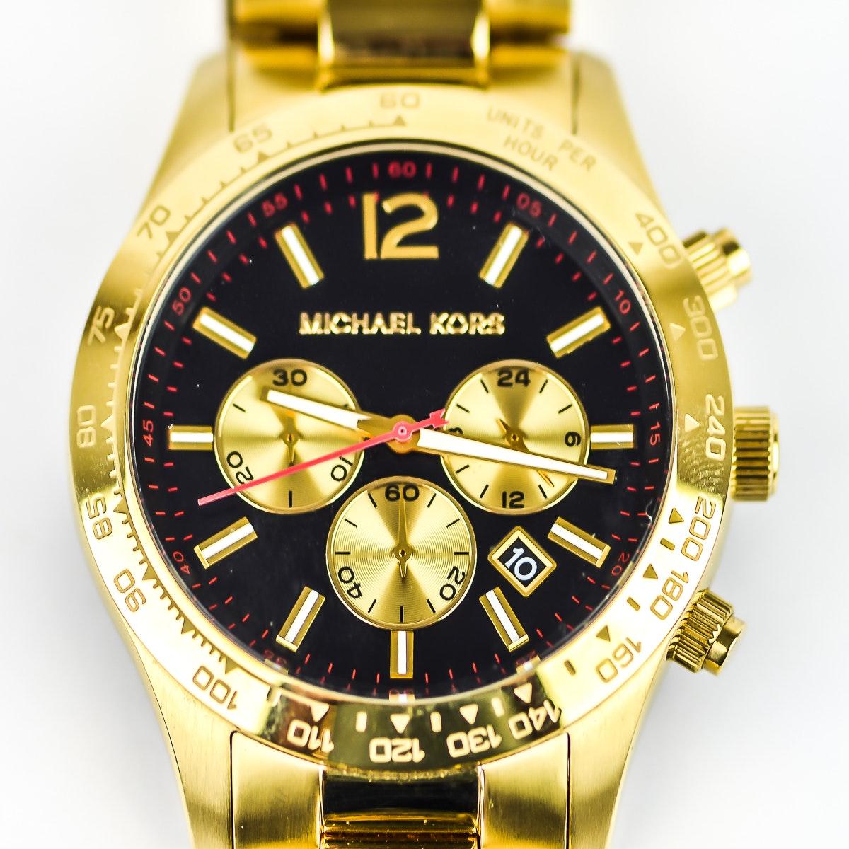 Men's Michael Kors Gold Plated Steel Chronograph Wristwatch