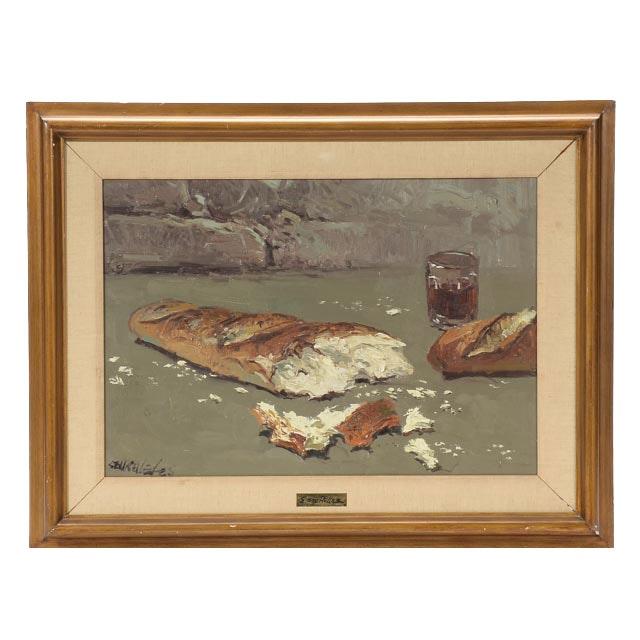 """Eustaquio Segrelles Original Oil on Canvas """"Con Pan y Vino"""""""