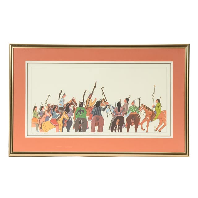 "Virginia Stroud Signed Limited Edition Offset Lithograph ""Before Battle"""