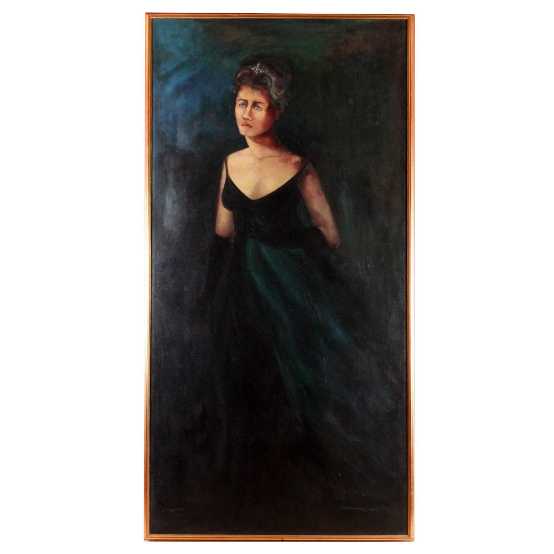 """Judee Ciccarone Original Oil Painting Based on Puccini's """"Tosca"""""""