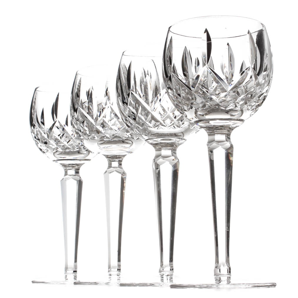 "Waterford Crystal ""Lismore"" Wine Glasses"