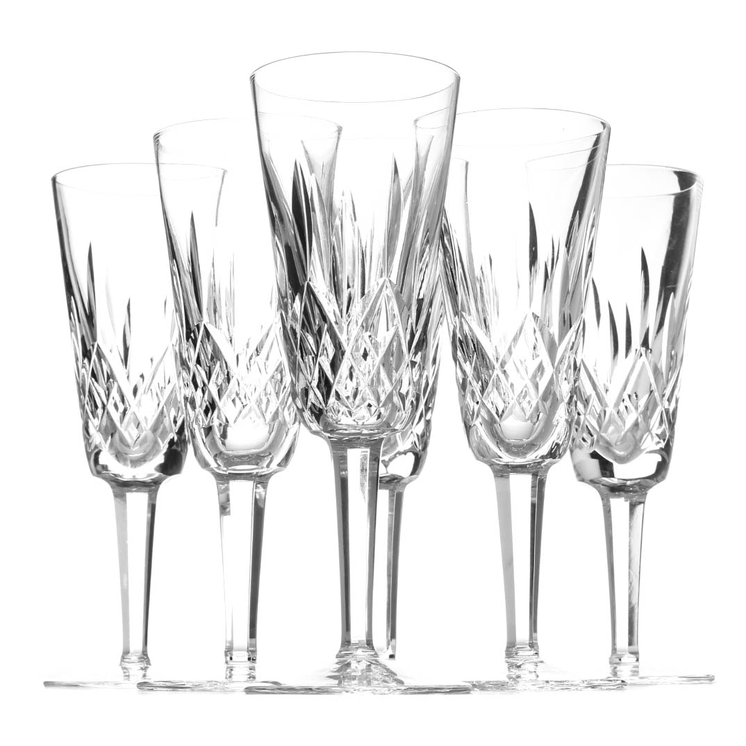 "Waterford Crystal ""Lismore"" Champagne Flutes"