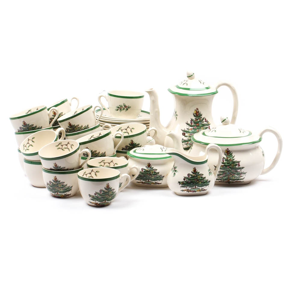 "Spode ""Christams Tree"" Tea Service"