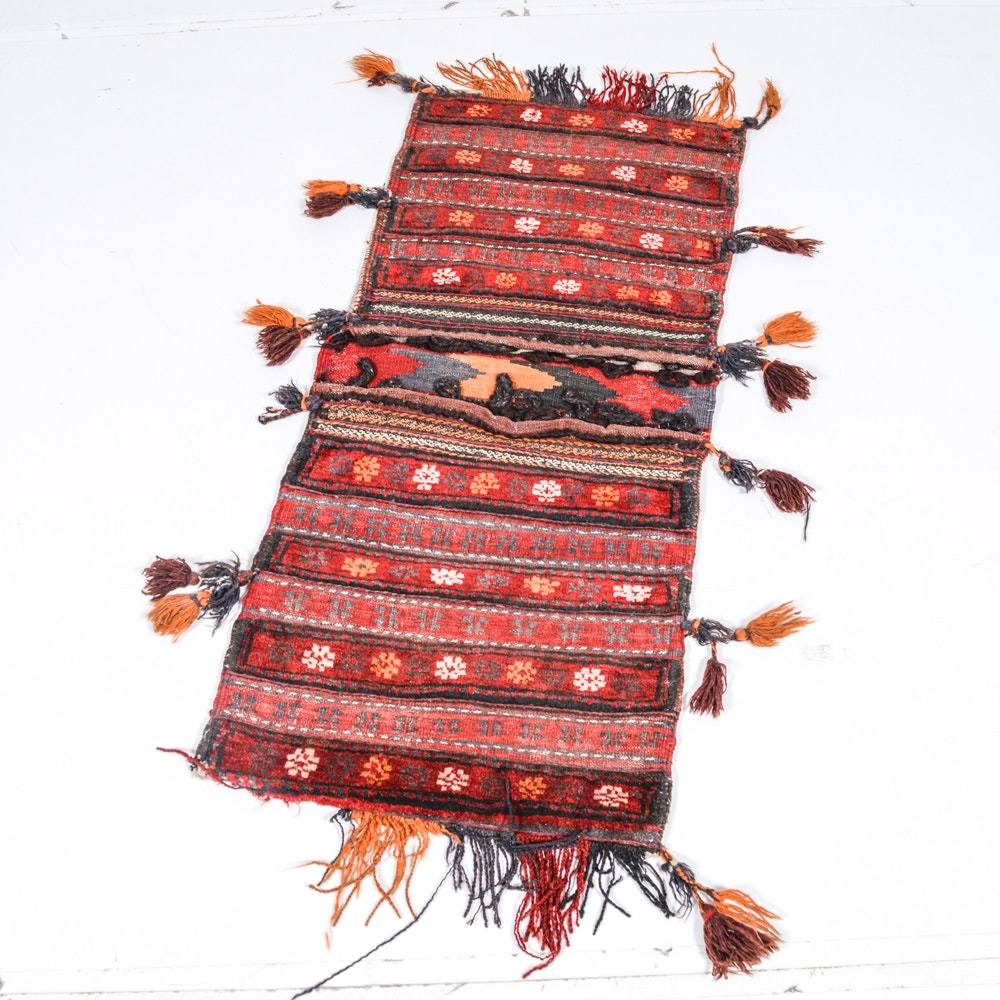 Hand Knotted and Hand Woven Baluch Saddle Bag