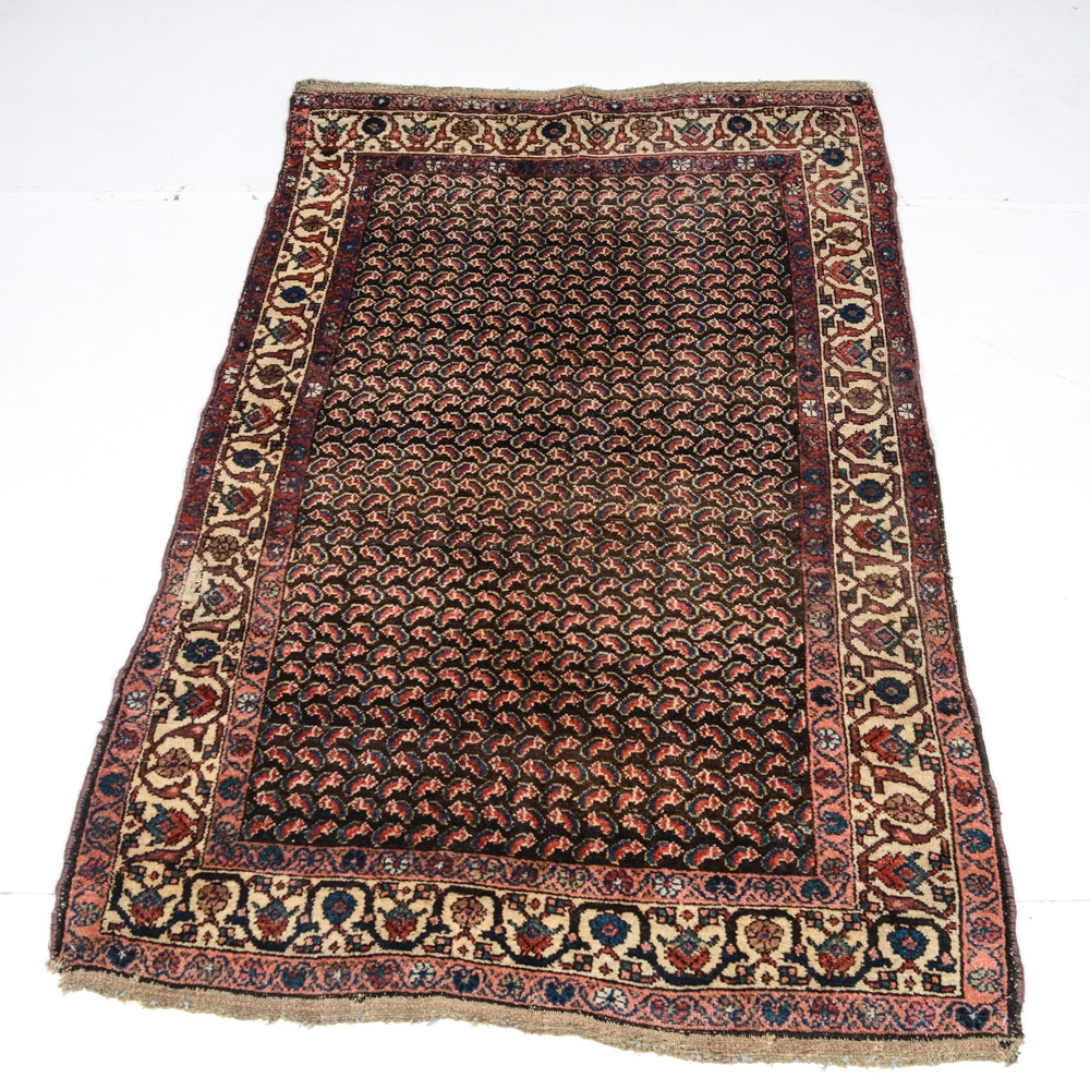 Hand Knotted Antique Persian Kurd Area Rug