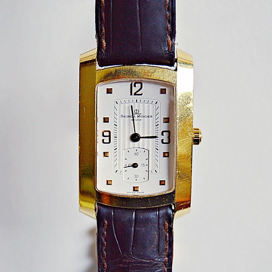 """Baume & Mercier 18K Gold """"Hampton"""" Wristwatch"""