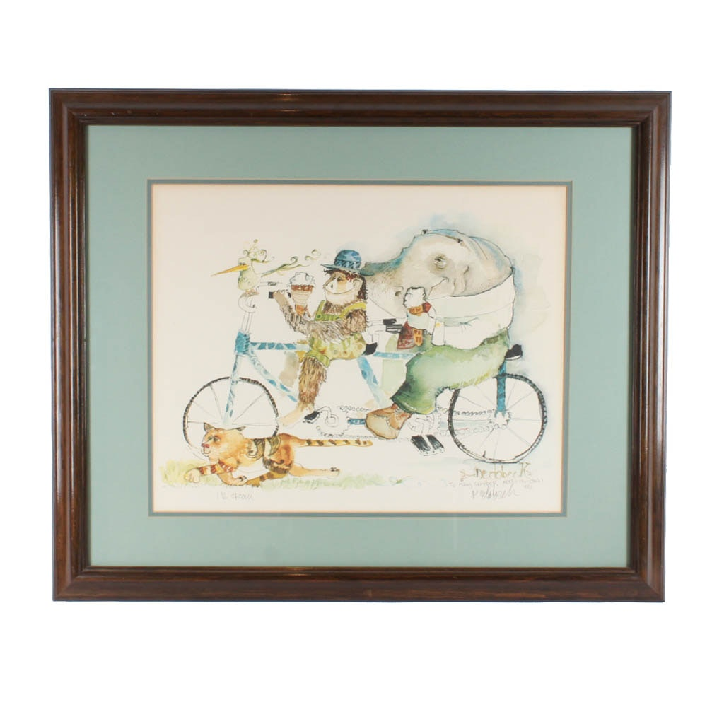 "Don Nedobeck Offset Lithograph Print  ""Ice Cream"""