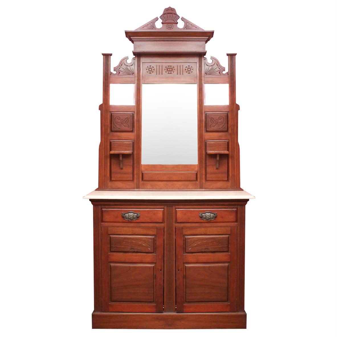 Antique Eastlake Dresser with Marble Top