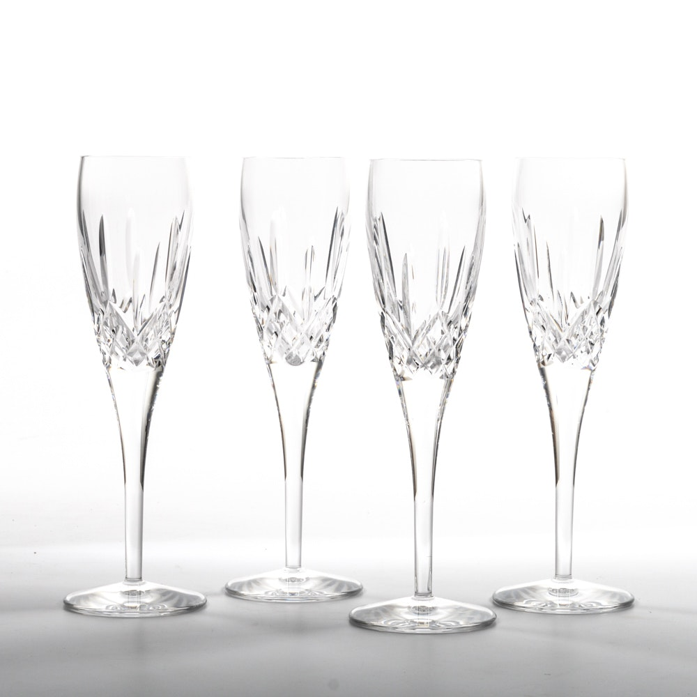 """Set of Waterford """"Lismore Nouveau"""" Champagne Flutes"""