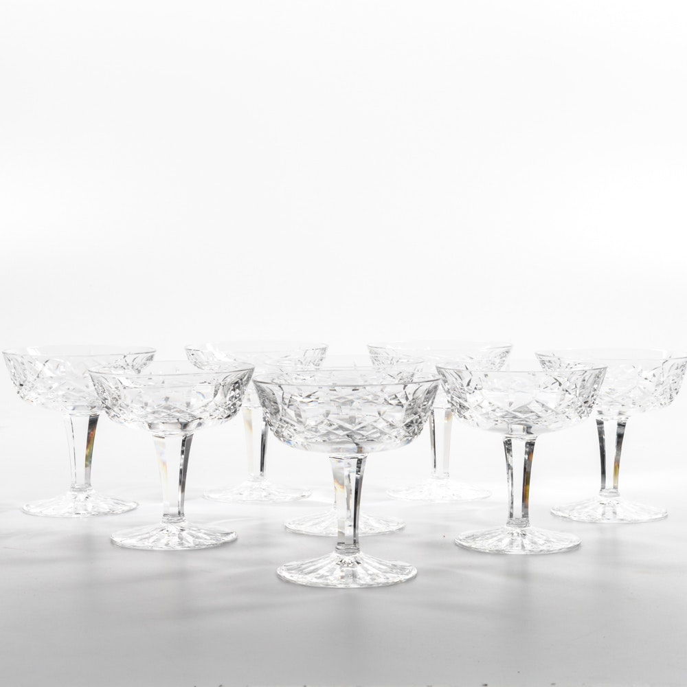 """Waterford Crystal """"Lismore"""" Champagne Glasses"""