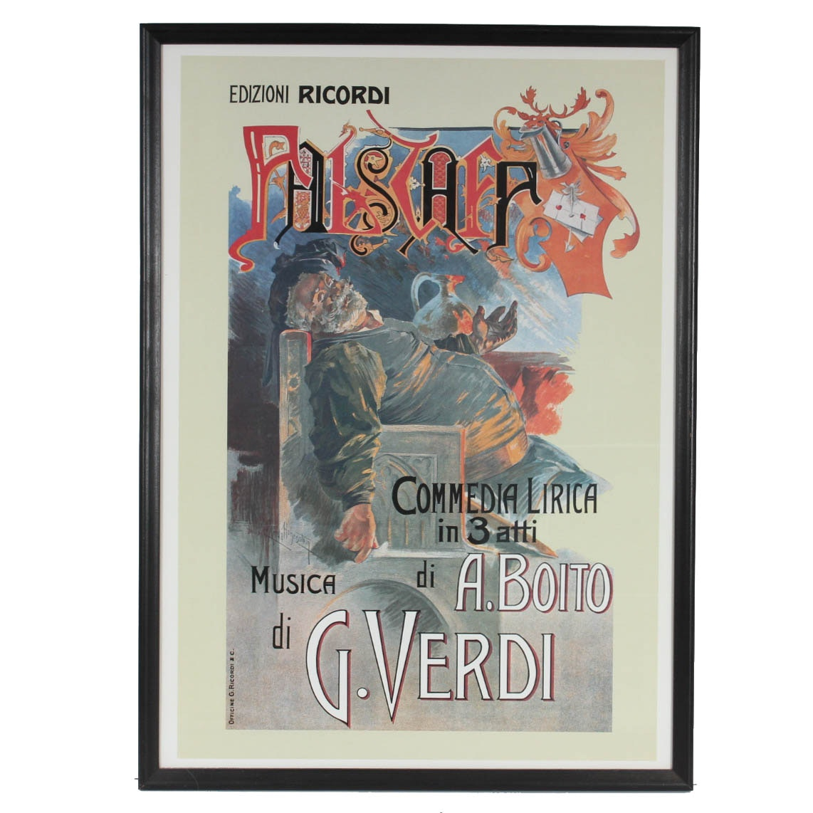 """Falstaff, Musica di G. Verdi"" Reproduction Art Print Poster"