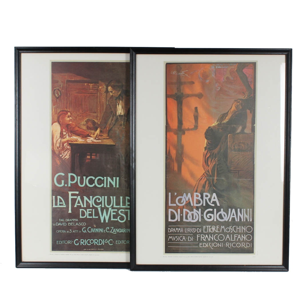 Framed Opera Art Poster Offset Lithographs