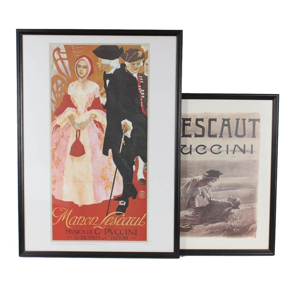Framed Manon Lescaut, Musica di Puccini Art Print Posters