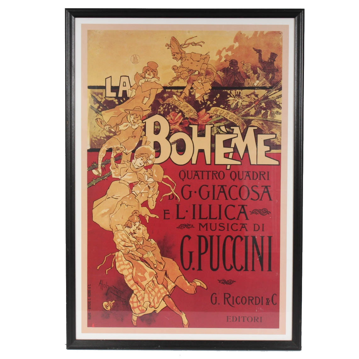 """La Boheme, Musica di Puccini"" Reproduction Art Print Poster"