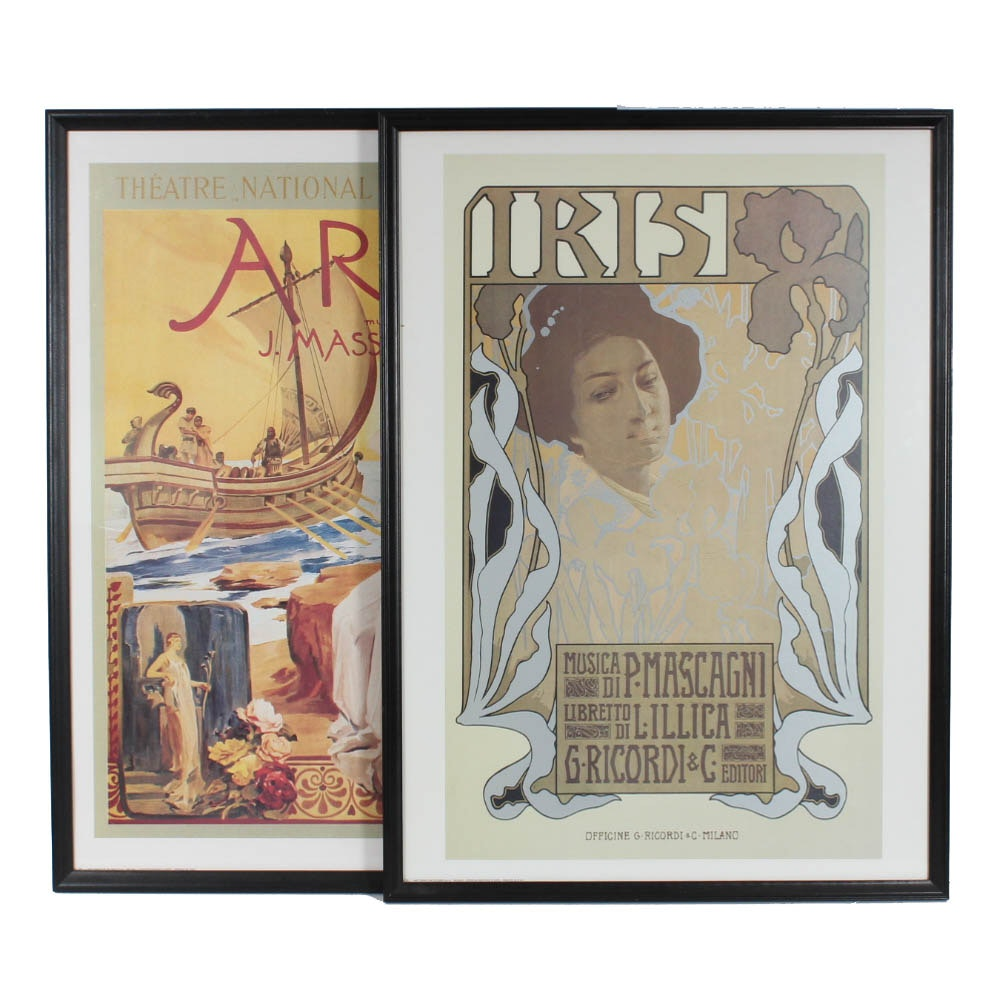 """Ariane"" and ""Iris"" Opera Reproduction Art Poster Prints"