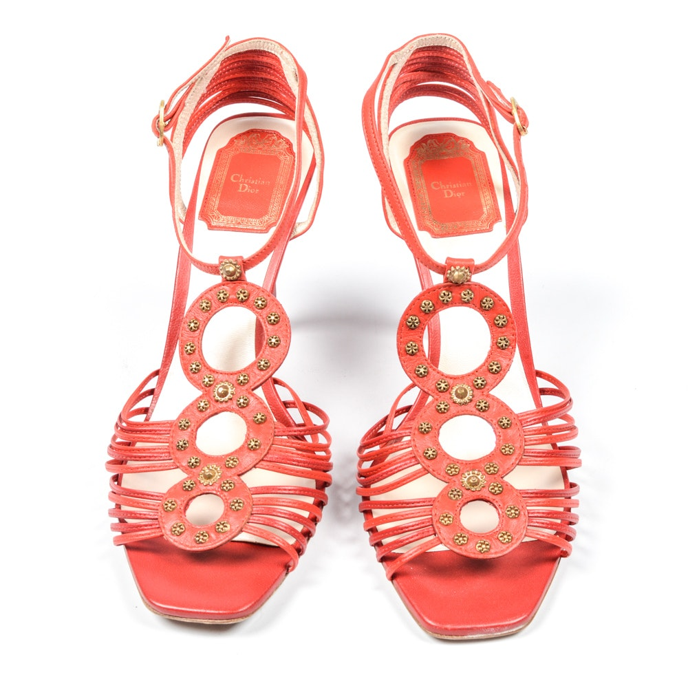 Christian Dior Leather Sandals