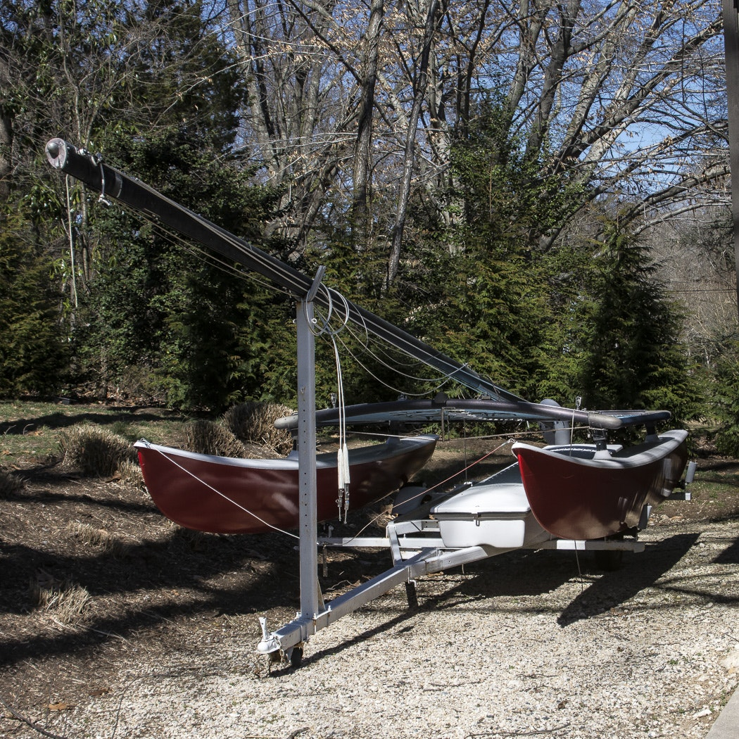 Catamaran, Trailer Hitch, and Portable Dolly
