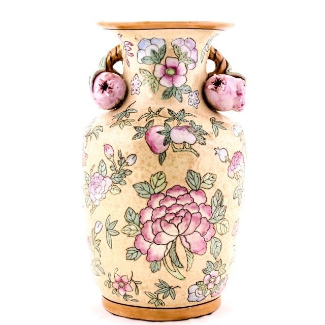 Mid Century Chinese Peach Vase