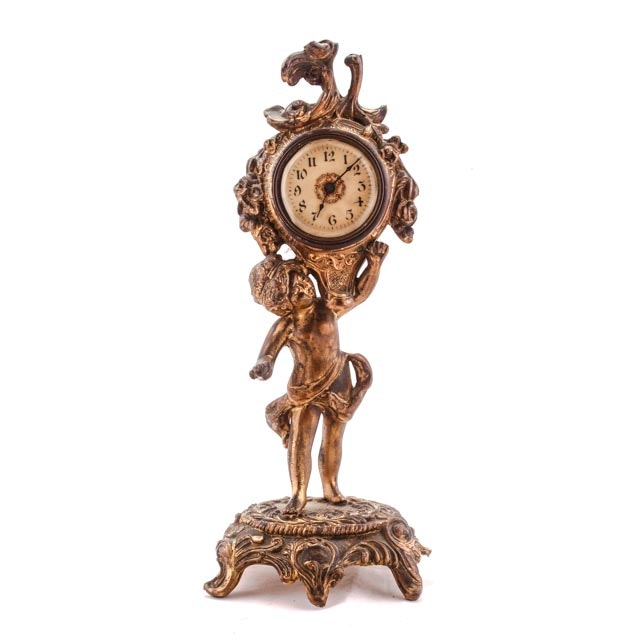 Art Nouveau Period Gilt Bronze Clock