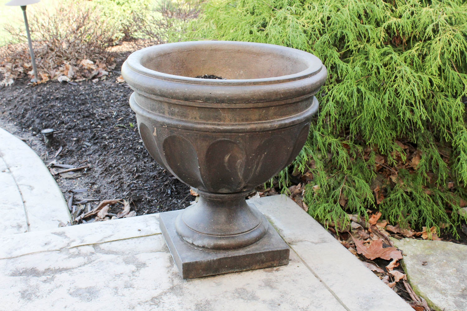 Large Cast-Stone Outdoor Urn