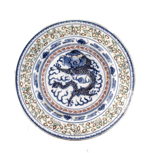 Imperial Chinese Five Claw Dragon Plate with Kangxi Mark