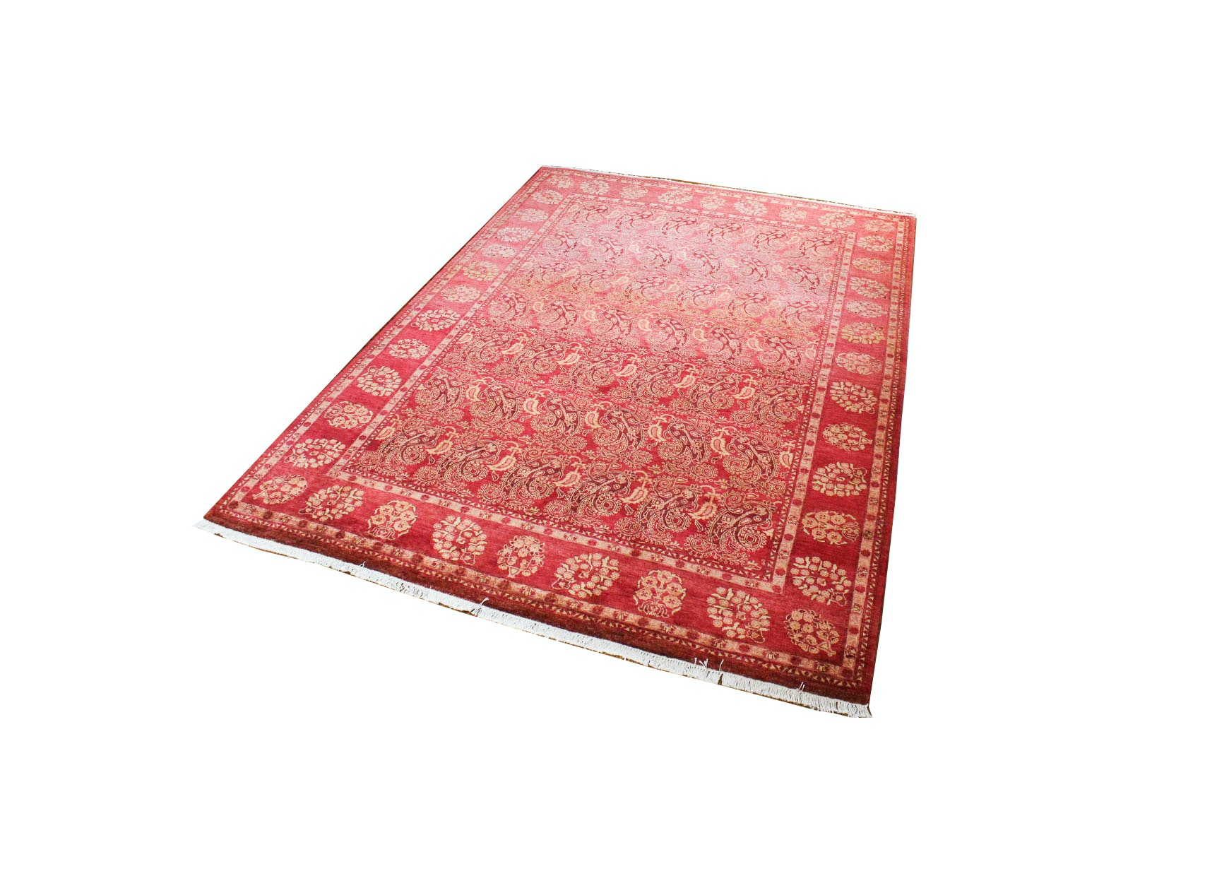 Handwoven Wool Area Rug From India