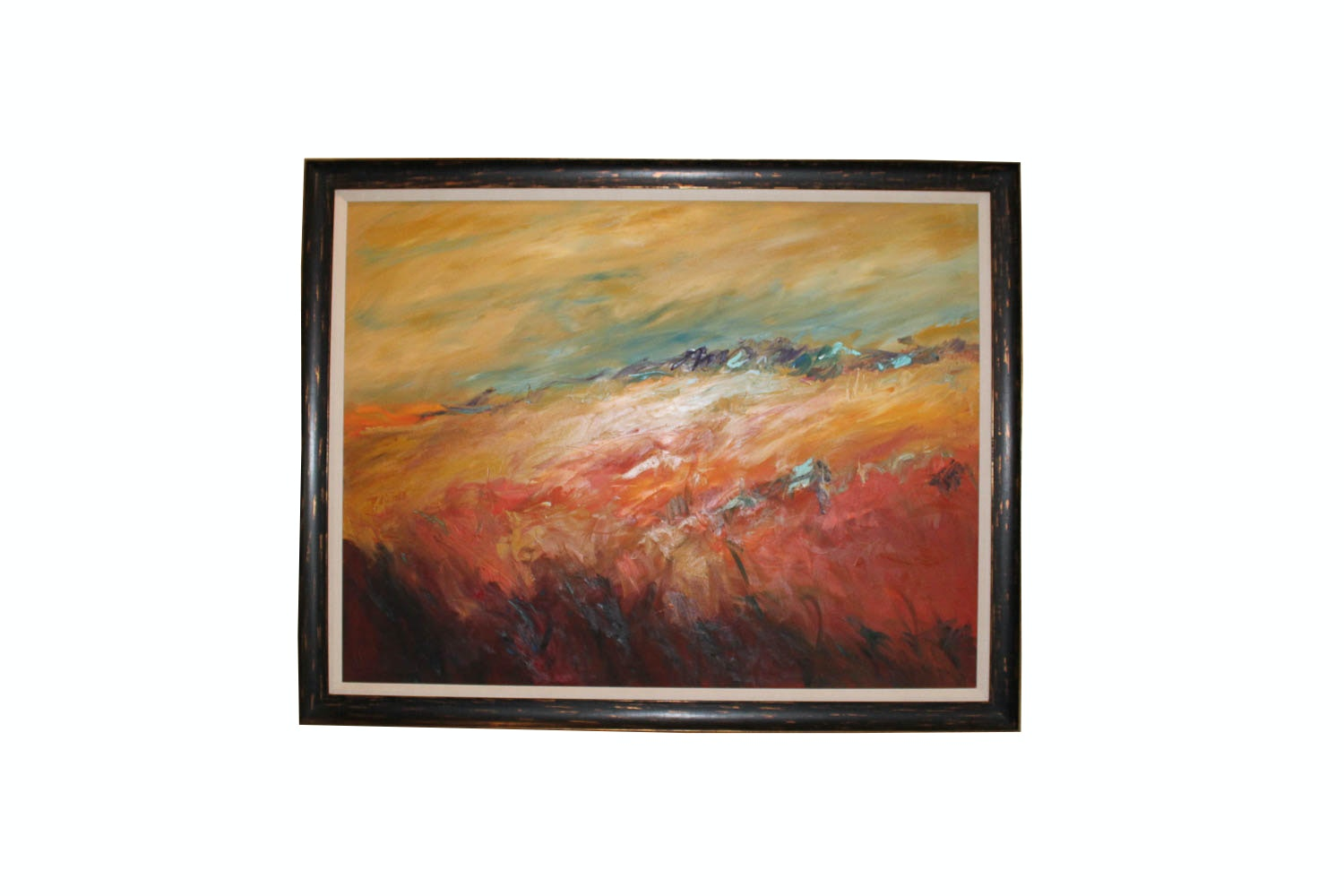 Trish Weeks Large Oil on Canvas Abstract Landscape