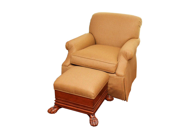 Century Swivel Armchair With Matching Ottoman