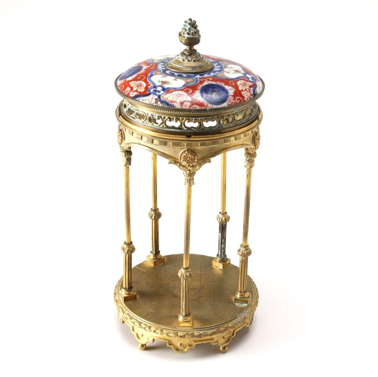 Ceramic And Brass Lidded Desk Gazebo