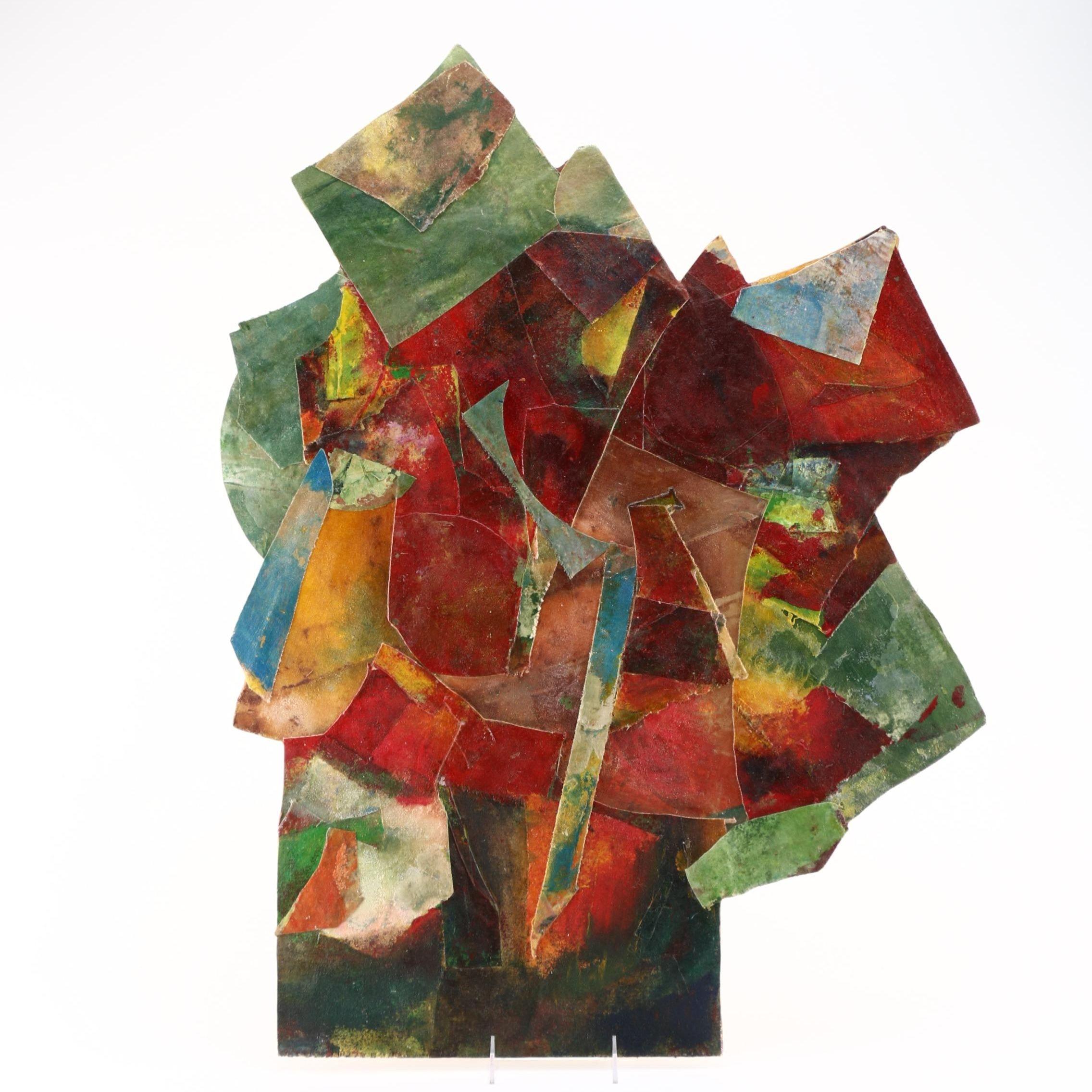 "Stephanie Baldyga-Stagg Acrylic on Wood Panel ""Petal"""