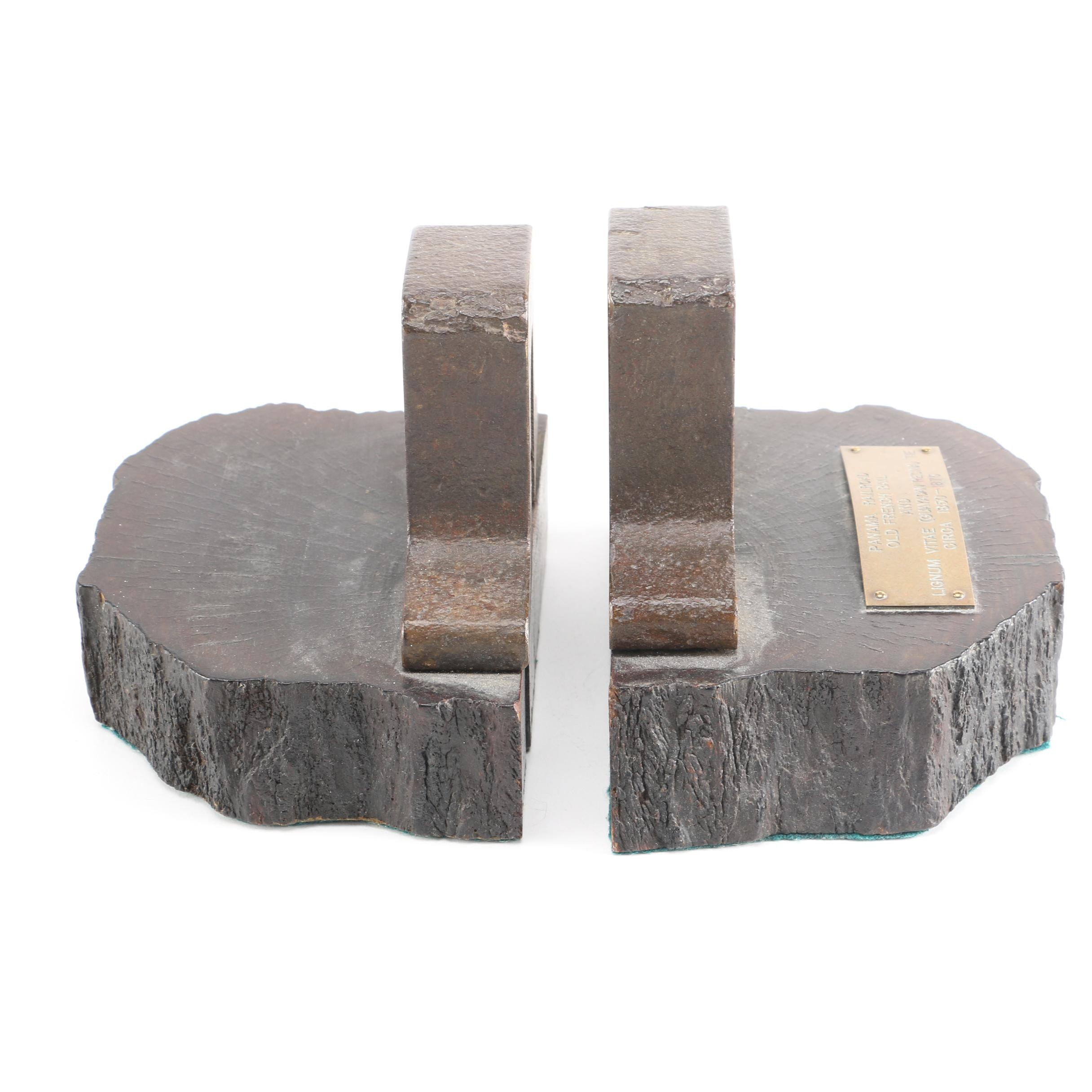 Panama Railroad Tie and Rail Bookends