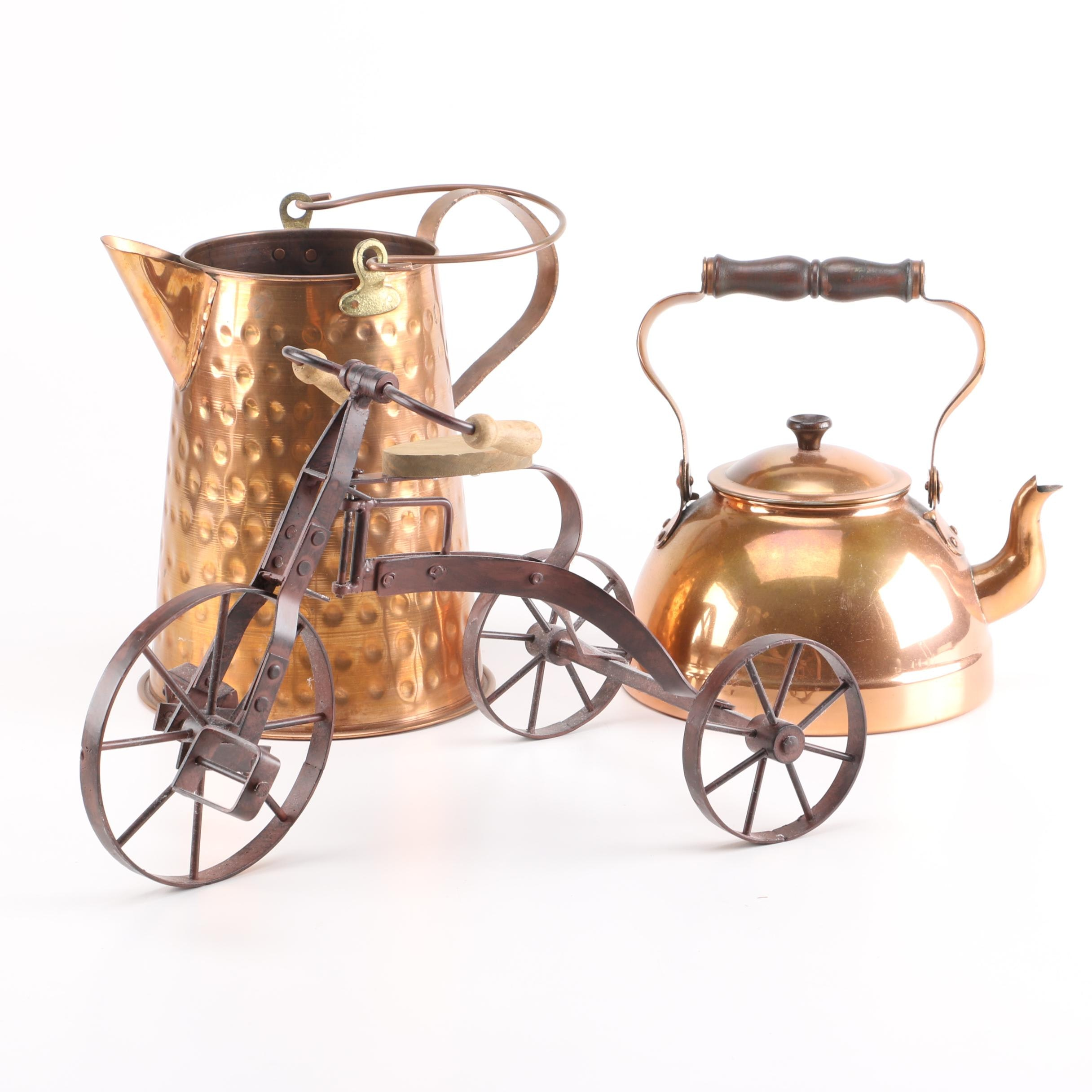 Copper Kettles and Decor