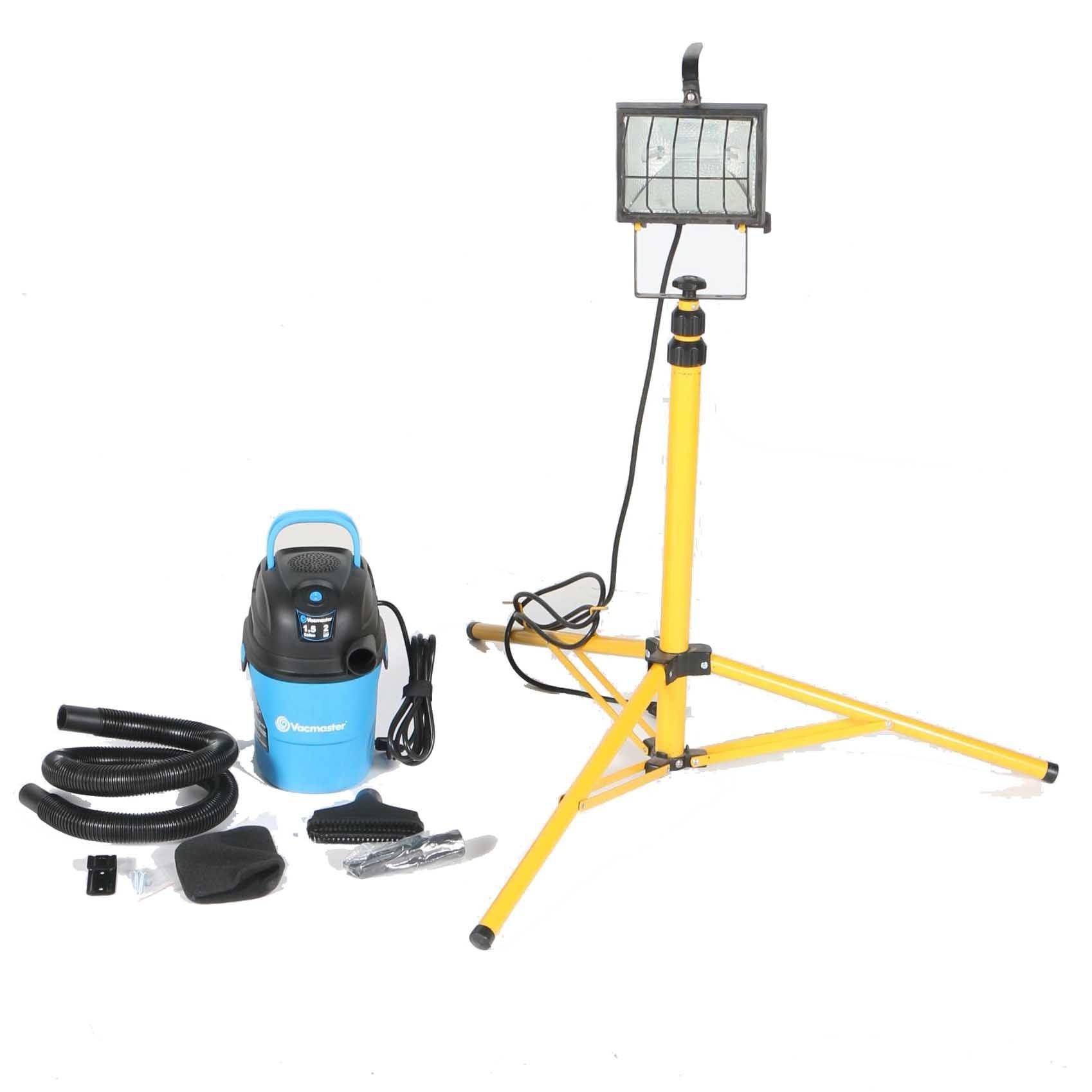 Work Light and Vacuum