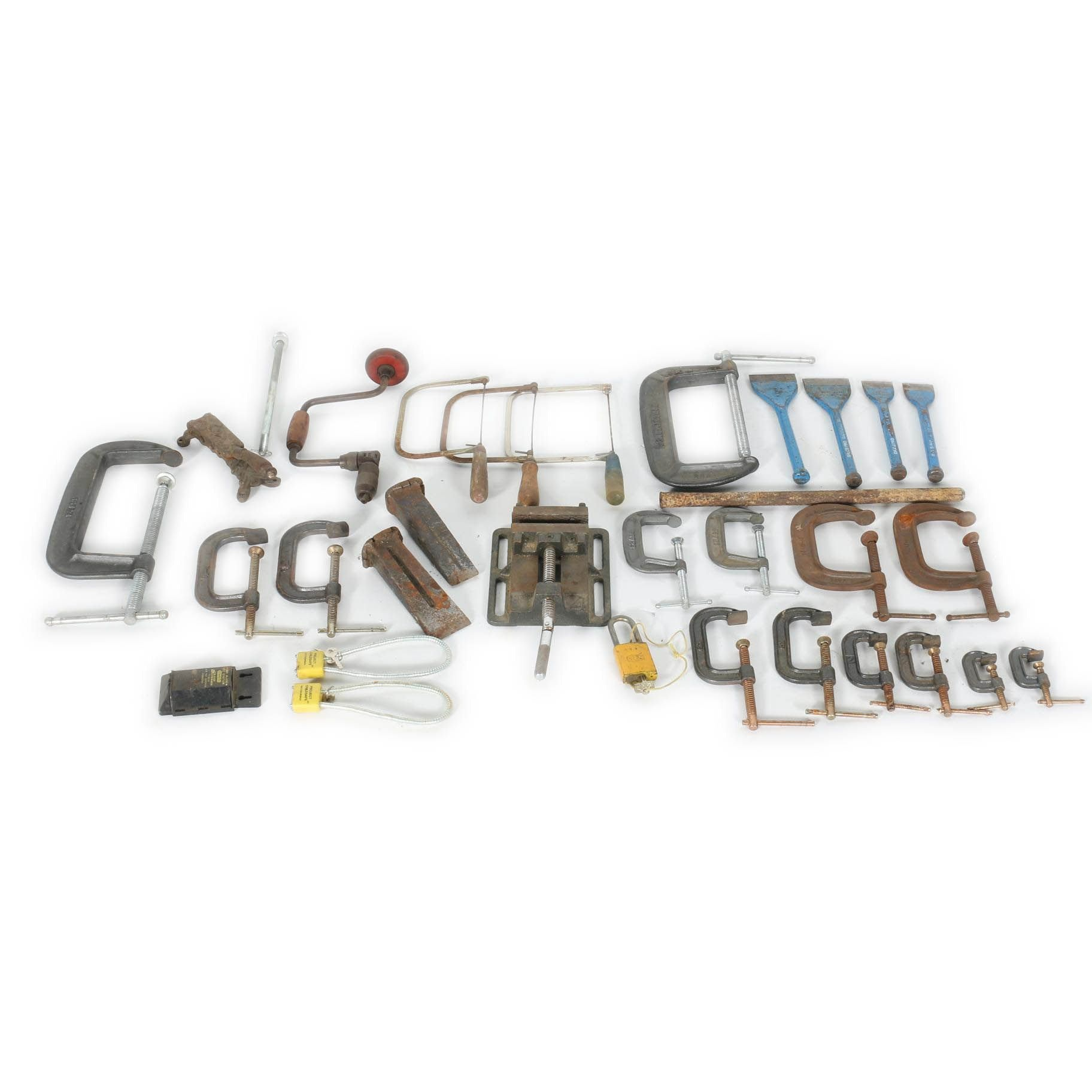 Tool and lock Assortment Including Dasco Pro