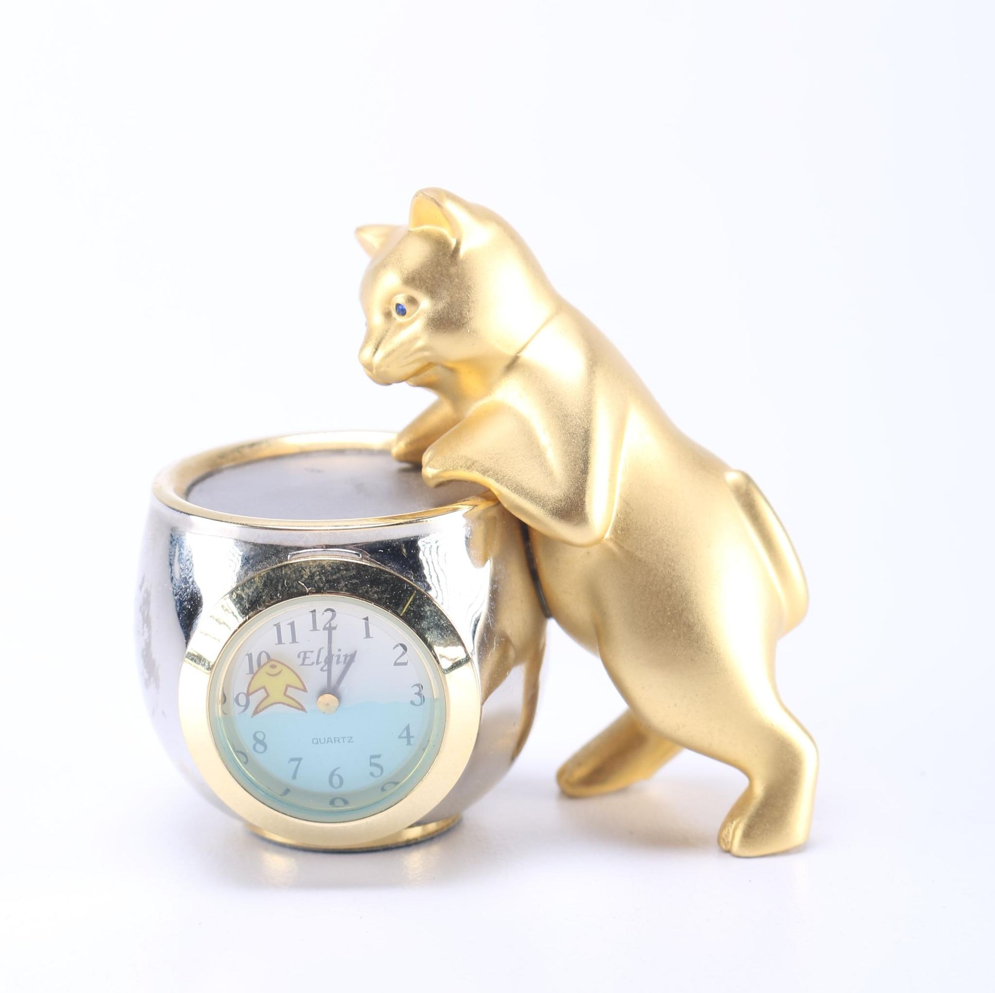 Elgin Quartz Cat Clock