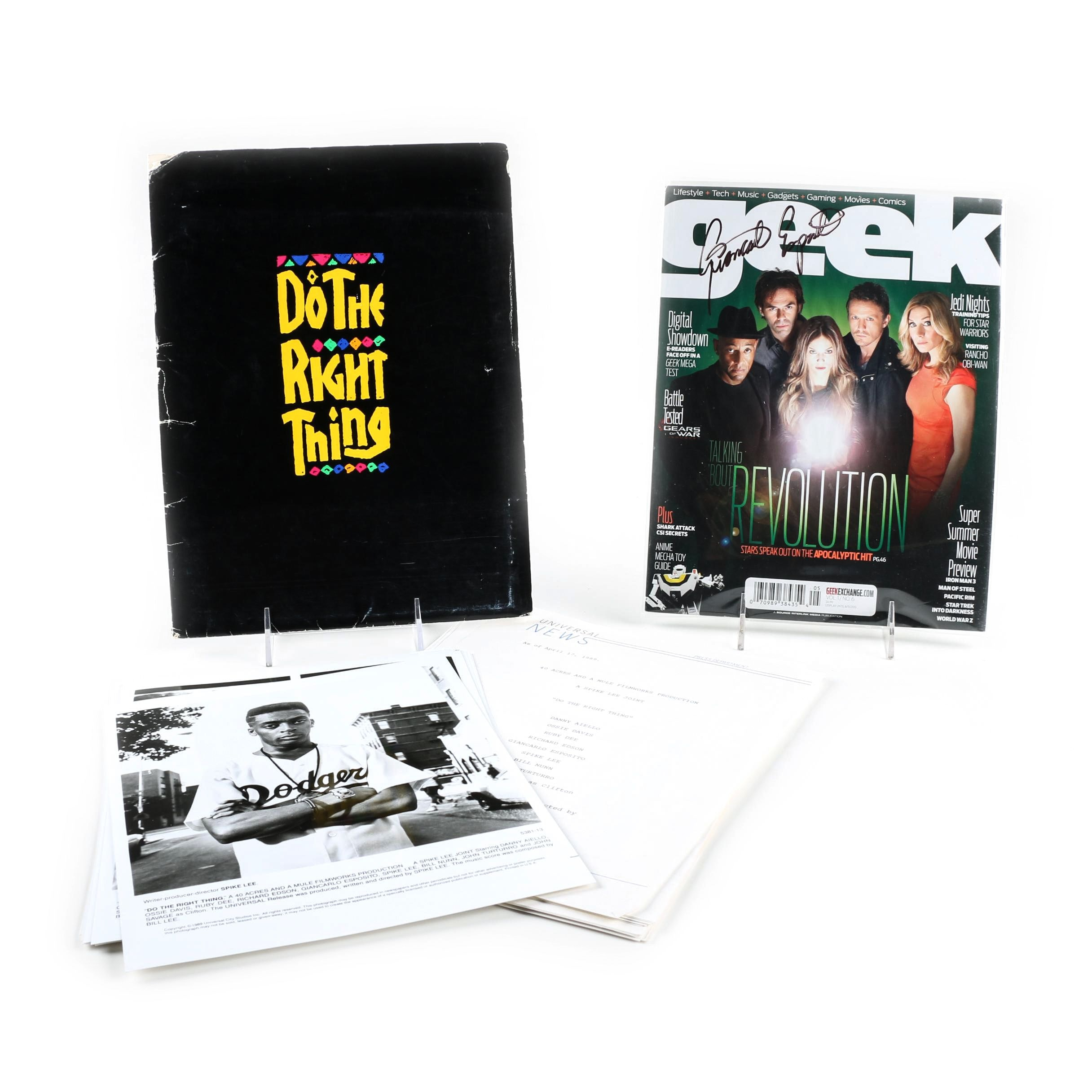 """Do the Right Thing"" Film Production Package and Signed Magazine"