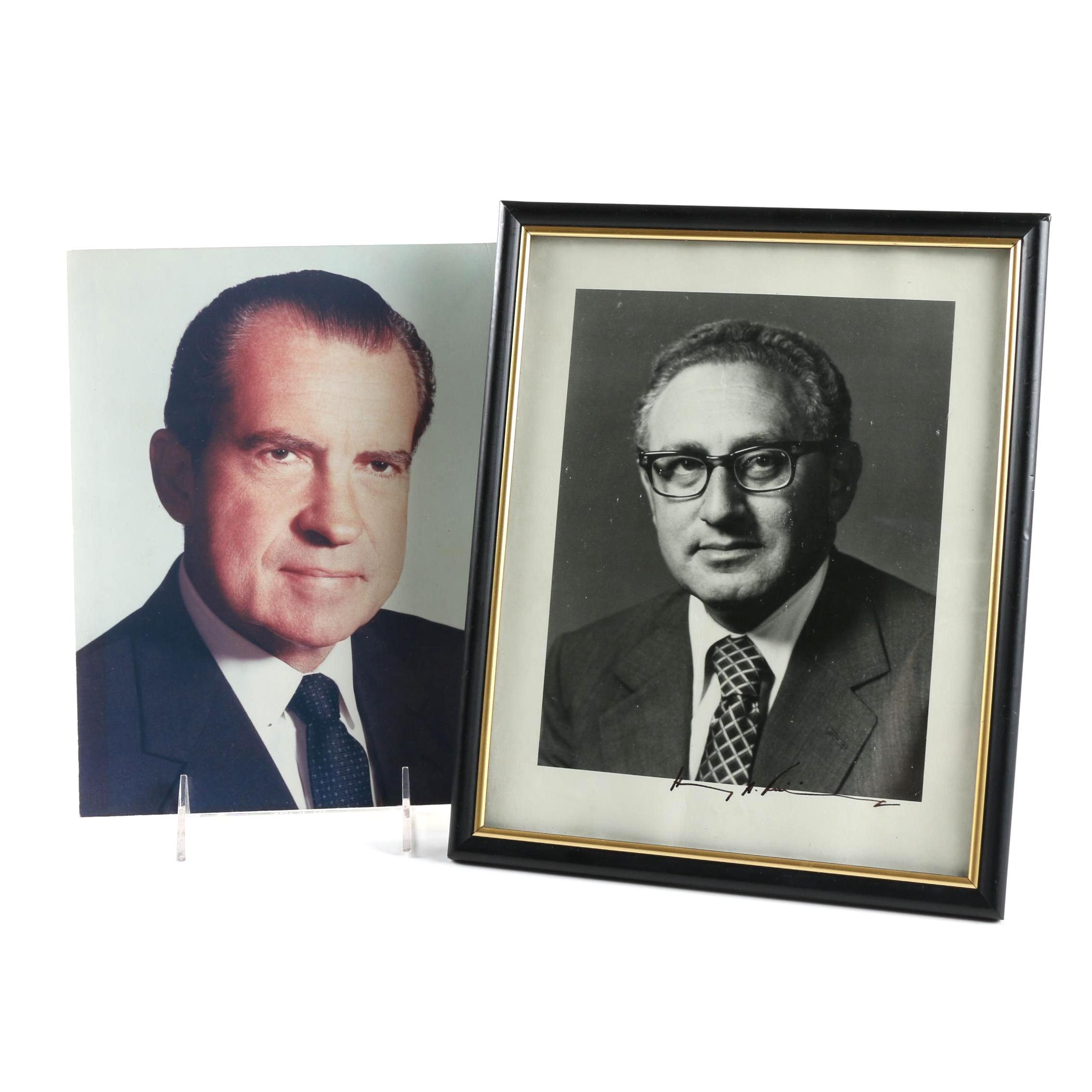 Signed Henry Kissinger Photo