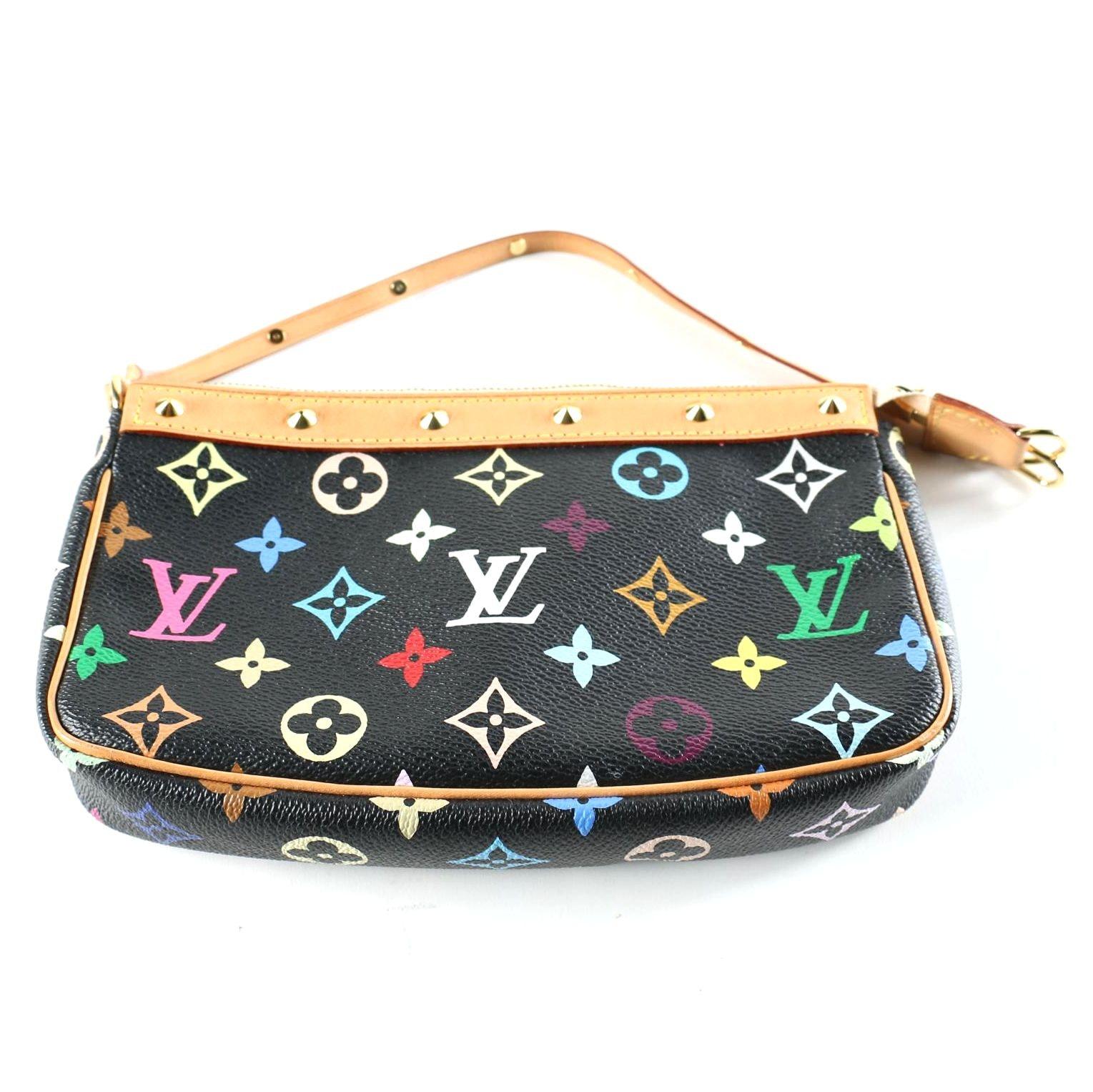 Louis Vuitton White Monogram Multicolore Accessories Pochette Bag