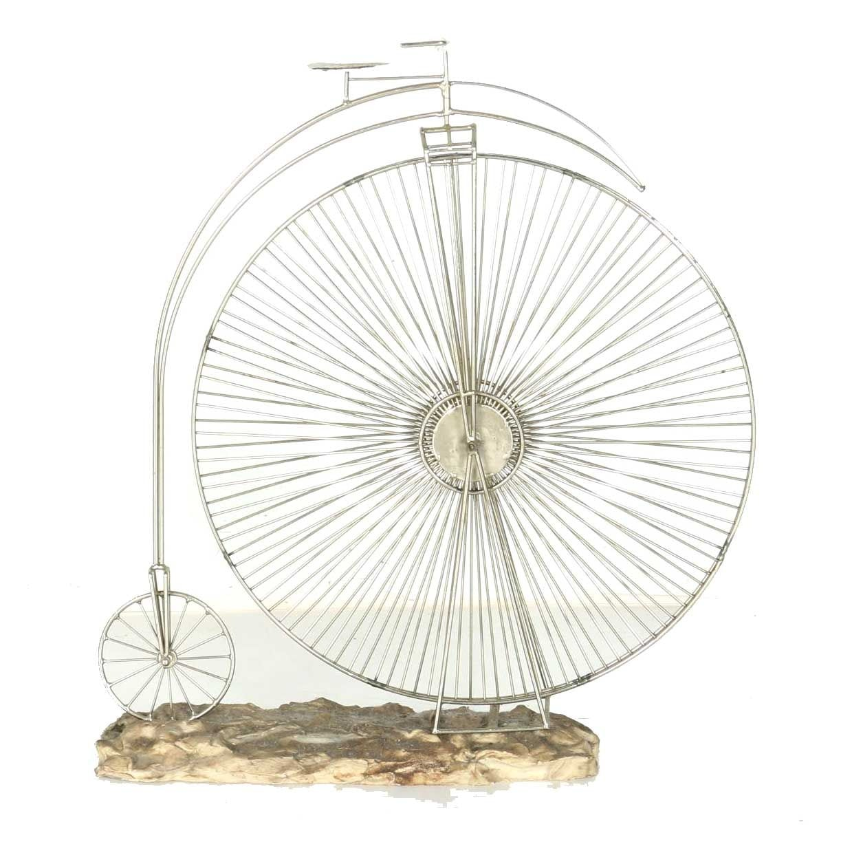 Metal Penny Farthing Bicycle Sculpture