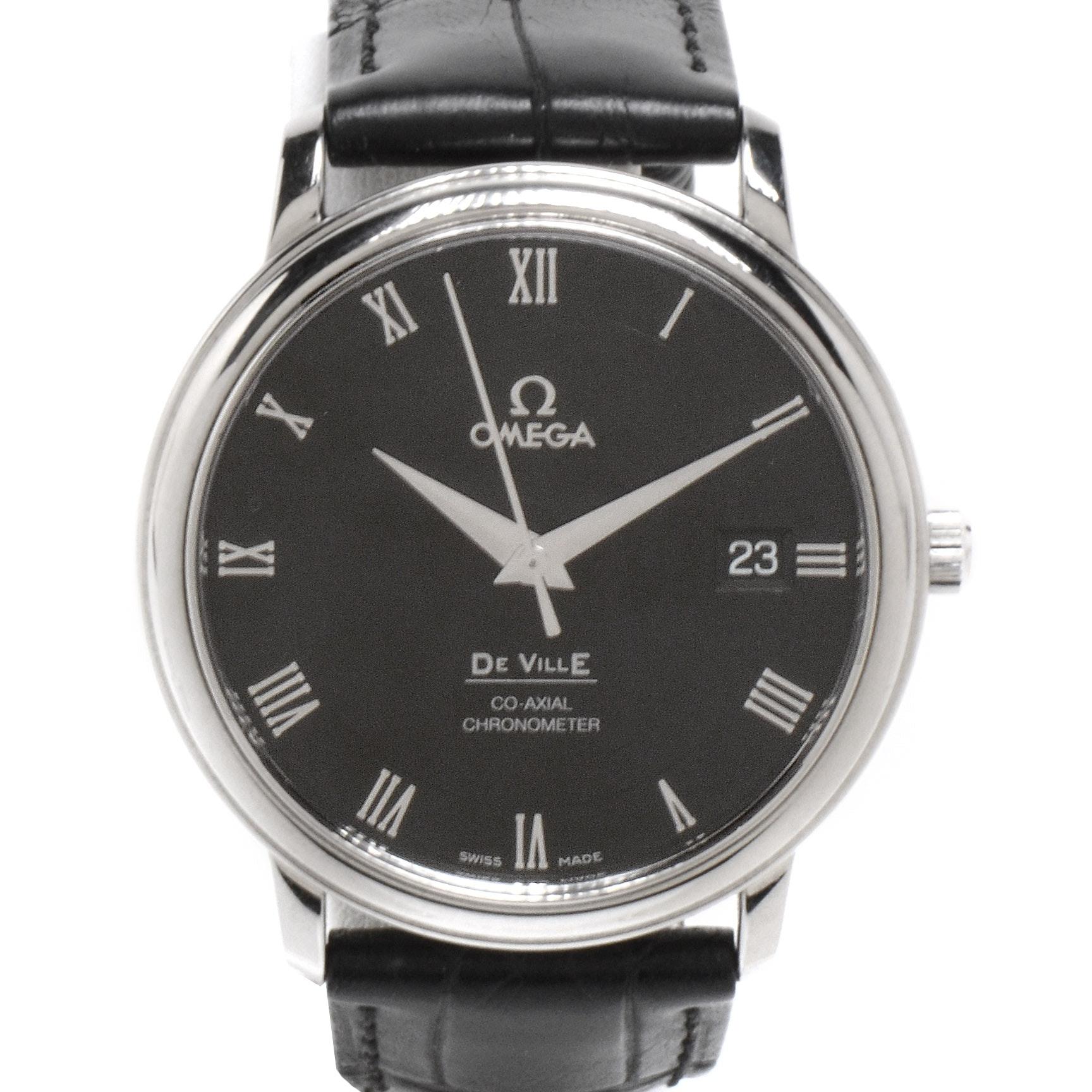 Omega De Ville Prestige Co-Axial Automatic 36.5mm Black Roman