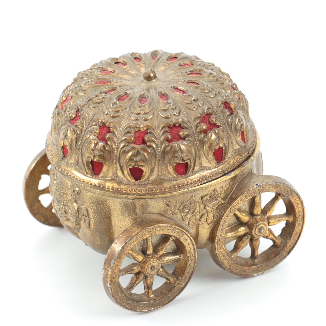 Brass Carriage Music Box