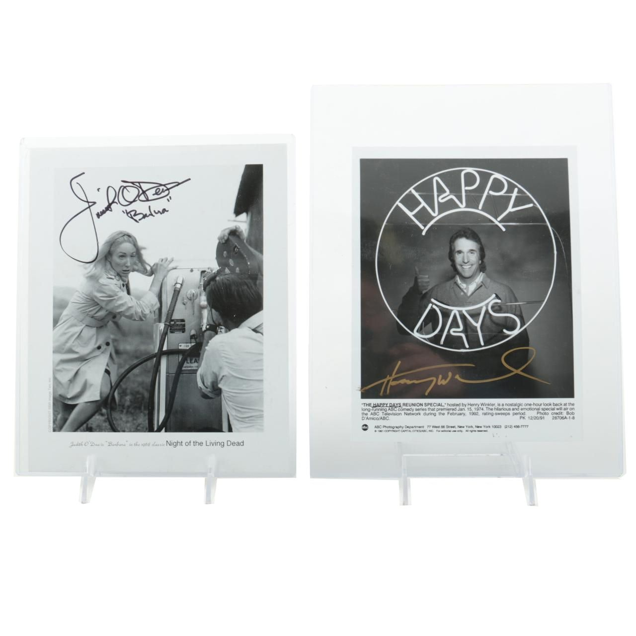 Henry Winkler and Judith O'Dea Signed Photographs