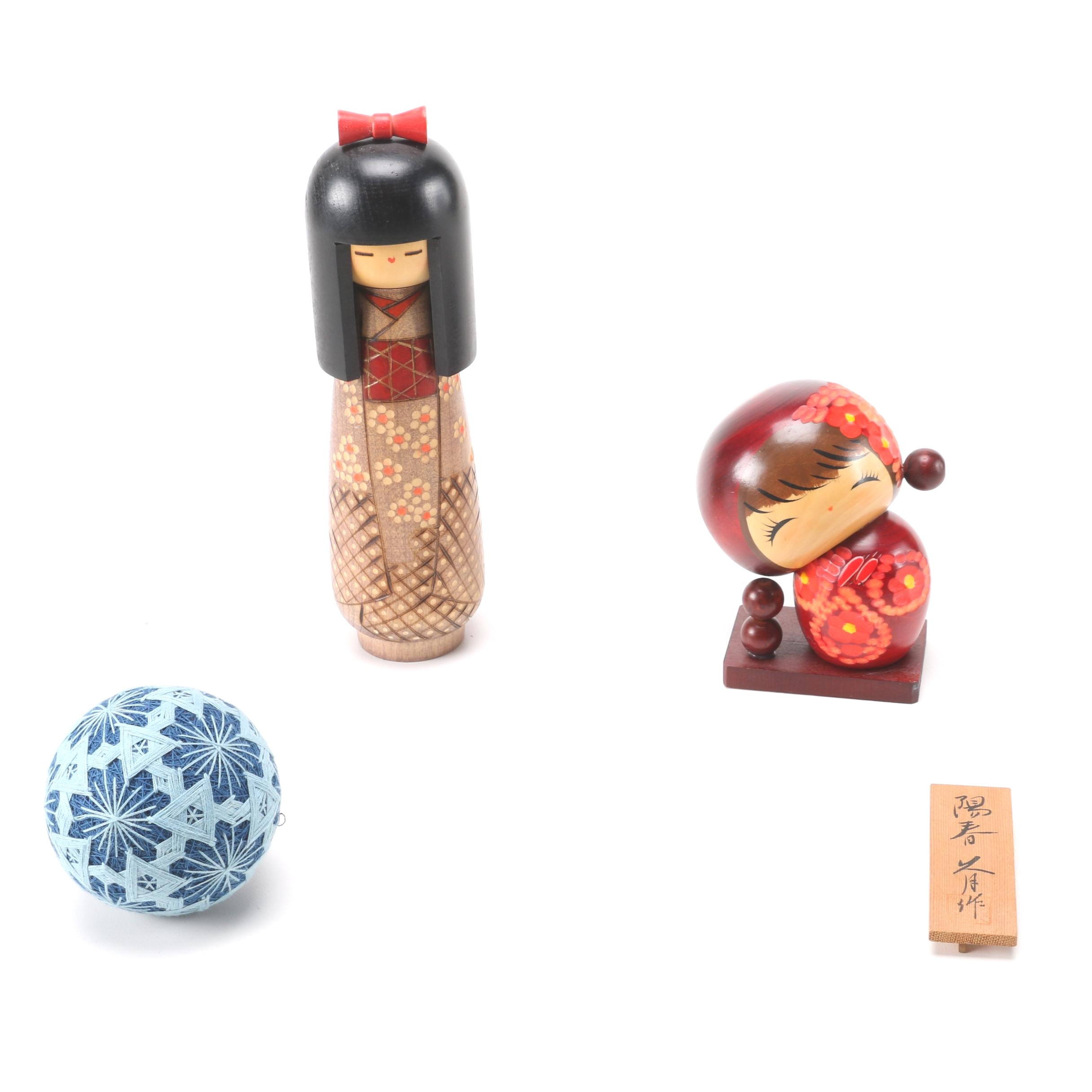 Asian Inspired Wooden Figurines