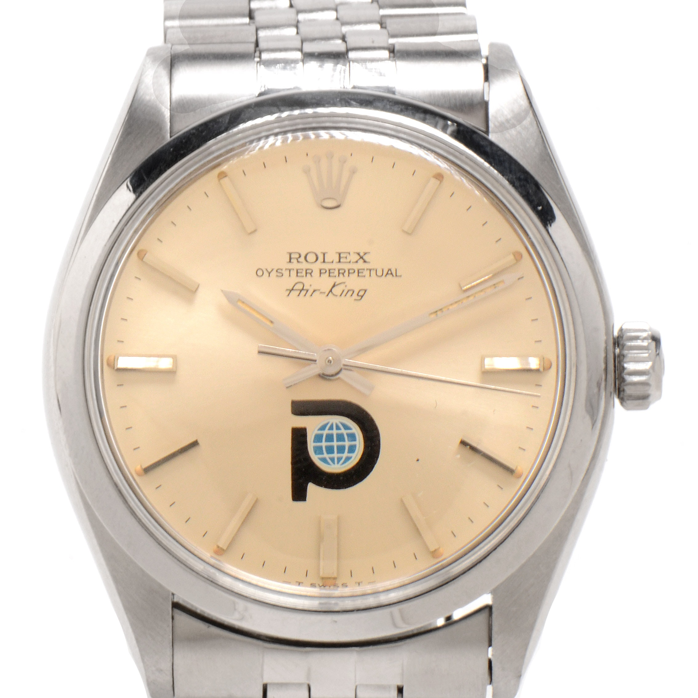 Vintage Rolex Perpetual Air-King Steel Silver Index Automatic
