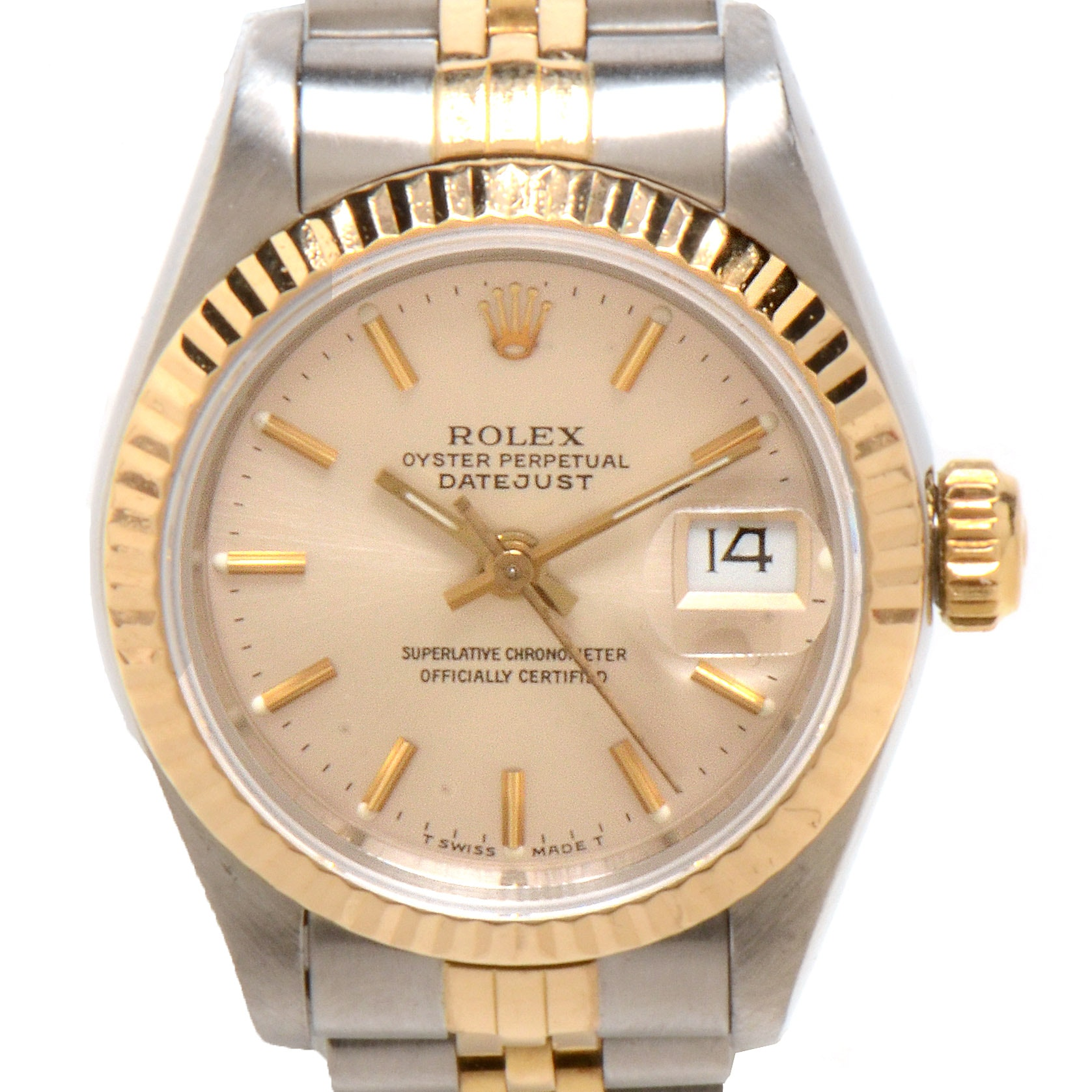Women's Rolex Datejust 18K Gold and Steel Silver Dial Automatic